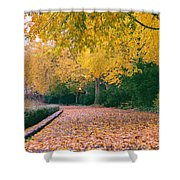 Autumn - New York City - Fort Tryon Park Shower Curtain