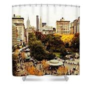 Autumn - New York Shower Curtain by Vivienne Gucwa