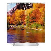 Autumn Oak Creek  Shower Curtain