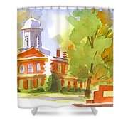 Autumn Observations Watercolor Shower Curtain