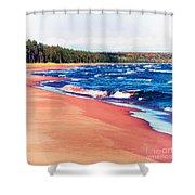 Autumn On Lake Superior Shower Curtain