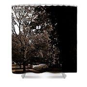 Autumn On Maple Road Shower Curtain