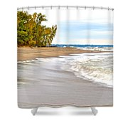 Autumn On The Beach Shower Curtain