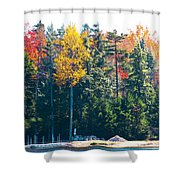 Autumn On The Fulton Chain Of Lakes In The Adirondacks II Shower Curtain