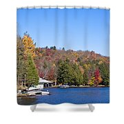 Autumn On The Fulton Chain Of Lakes In The Adirondacks V Shower Curtain