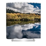 Autumn On The Klamath 11 Shower Curtain