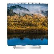 Autumn On The Klamath 5 Shower Curtain