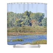 Autumn On The Marsh Shower Curtain