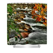 Autumn On The River Shower Curtain