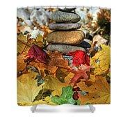 Autumn On The Rocks 2 Shower Curtain