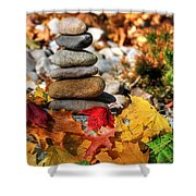 Autumn On The Rocks Shower Curtain
