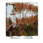 Autumn On The Wagon Shower Curtain
