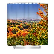 Autumn Over The Rolling Hills Shower Curtain