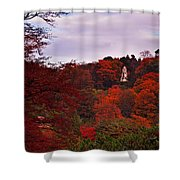 Autumn Pagoda Shower Curtain