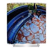 Autumn Park Benches Shower Curtain