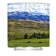 Autumn Pastural Setting Shower Curtain