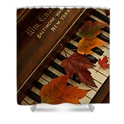 Autumn Piano 11 Shower Curtain