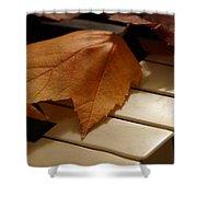 Autumn Piano 12 Shower Curtain