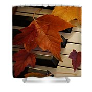 Autumn Piano 6 Shower Curtain