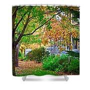 Autumn Porch Shower Curtain