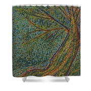 Autumn Rain Tree Shower Curtain