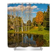 Autumn Reflecting Shower Curtain