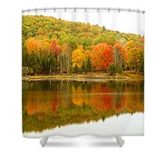 Autumn Reflection Panoramic View Shower Curtain