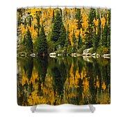 Autumn Reflections At Bear Lake Shower Curtain