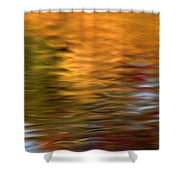 Autumn Reflections In Pond Shower Curtain