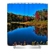 Autumn Reflections In The Adirondacks Shower Curtain
