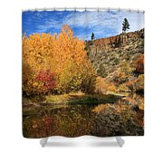 Autumn Reflections In The Susan River Canyon Shower Curtain