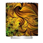 Autumn Returns Abstract Shower Curtain