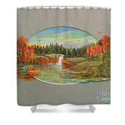 Autumn Reverence Shower Curtain