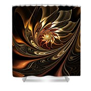 Autumn Reverie Abstract Shower Curtain