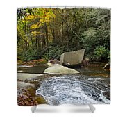 Autumn River Fall Shower Curtain