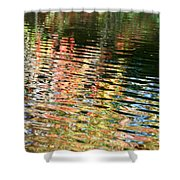 Autumn River Water Reflections  Shower Curtain
