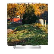 Autumn Road Morning Shower Curtain