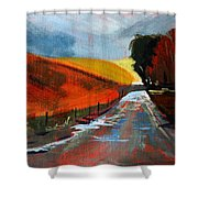 Autumn Road Shower Curtain