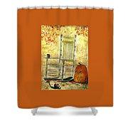 Autumn Rocks Shower Curtain