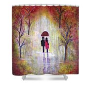 Autumn Romance Shower Curtain