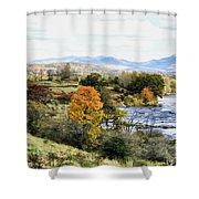 Autumn Rural Scene Shower Curtain