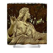Red Autumn Sculpture Shower Curtain