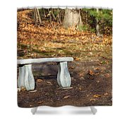 Autumn Seat Shower Curtain