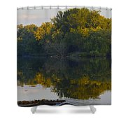Autumn Shell Rock Panel 2 Shower Curtain