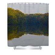 Autumn Shell Rock Panel 3 Shower Curtain