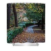 Autumn Side Walk Shower Curtain