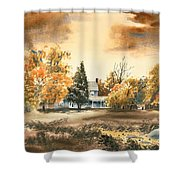 Autumn Sky No W103 Shower Curtain by Kip DeVore