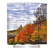 Autumn Sky Shower Curtain