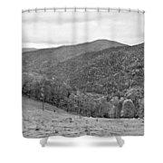 Autumn Song Monochrome Shower Curtain
