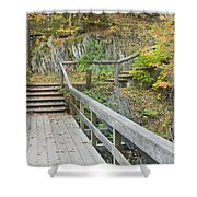 Autumn Steps Near Smalls Falls In Maine Shower Curtain